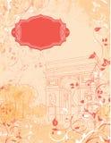 Предпосылка Триумфальная Арка, Париж, Франция Стоковые Изображения