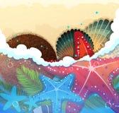 предпосылка тропическая Стоковое Изображение RF