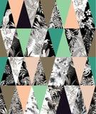 Предпосылка тропической заплатки безшовная иллюстрация вектора