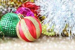 Предпосылка украшения рождества деревянная Украшения деревянные Vintag Стоковое Изображение RF