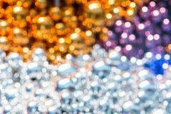 Предпосылка украшения рождества шариков Bokeh Стоковые Фотографии RF