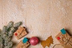 Предпосылка украшения рождества Стоковые Изображения RF