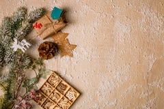 Предпосылка украшения рождества Стоковые Изображения