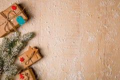 Предпосылка украшения рождества Стоковое Изображение RF