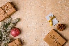 Предпосылка украшения рождества Стоковая Фотография