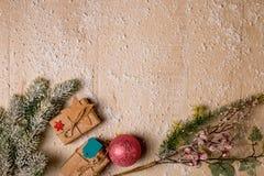 Предпосылка украшения рождества Стоковое фото RF