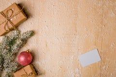 Предпосылка украшения рождества Стоковые Фотографии RF
