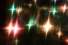 Предпосылка украшения света рождества Стоковые Изображения