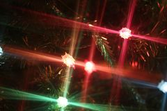 Предпосылка украшения света рождества Стоковое Изображение