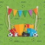 Предпосылка украшения футбола бесплатная иллюстрация