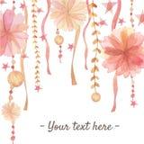 Предпосылка украшения цветка Стоковые Изображения