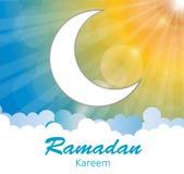 Предпосылка луны для мусульманского фестиваля общины Стоковые Фотографии RF