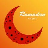 Предпосылка луны для мусульманского фестиваля общины Стоковое Фото