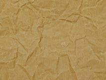 Предпосылка, упаковочная бумага, текстура, коричневый цвет, морщинка стоковая фотография rf