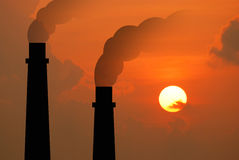 Fac промышленного дела индустрии электростанции электростанции электрическое Стоковые Изображения RF