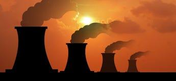 Fac промышленного дела индустрии электростанции электростанции электрическое стоковая фотография