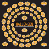 Предпосылка фестиваля хеллоуина тыкв плоская для плаката Стоковое Изображение