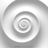 Предпосылка Фибоначчи спиральная белая абстрактная иллюстрация вектора