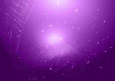 Предпосылка фиолета абстрактной технологии Стоковая Фотография RF