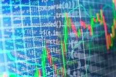 Предпосылка фондовой биржи финансов иллюстрация вектора