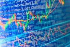 Предпосылка фондовой биржи финансов Стоковые Изображения RF