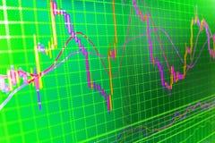 Предпосылка фондовой биржи финансов Стоковая Фотография RF