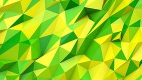 Предпосылка формы зеленых желтых абстрактных цветов треугольников поли геометрическая Стоковые Изображения RF