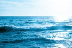 Предпосылка фотографии волны моря внешняя | сильный океан движения Стоковые Изображения RF
