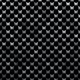 Предпосылка фольги Faux серебряных черных бабочек металлическая Стоковое Изображение