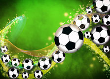 Предпосылка футбола или футбола Стоковые Фото