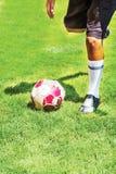 Предпосылка футбола футбола Стоковое Фото