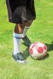 Предпосылка футбола футбола Стоковое фото RF