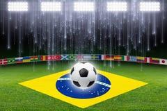 Предпосылка футбола Стоковая Фотография