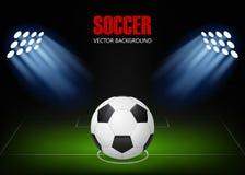 Предпосылка футбола Стоковая Фотография RF