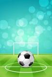 Предпосылка футбольного мяча Стоковая Фотография