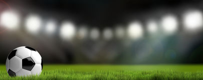 Предпосылка футбольного стадиона футбола 3D представляют футбол бесплатная иллюстрация
