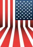 Предпосылка флага США вектора Стоковое фото RF