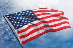 Предпосылка флага США, День независимости, четвертом -го символ в июле Стоковая Фотография