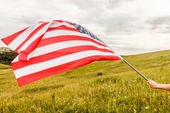 Предпосылка флага США, День независимости, четвертом -го символ в июле Стоковые Изображения RF