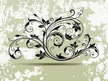 Предпосылка флористического орнамента и Grunge Стоковые Изображения