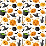Предпосылка хеллоуина безшовная.  Стоковые Фото