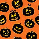 Предпосылка 7 хеллоуина безшовная Стоковая Фотография