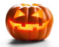 Предпосылка хеллоуина изолированная тыквой белая Стоковые Изображения