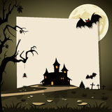 Предпосылка хеллоуина с ландшафтом осени Стоковое Изображение