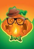 Предпосылка хеллоуина тыквы битника Стоковая Фотография