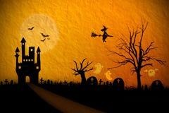 Предпосылка хеллоуина Стоковая Фотография