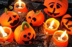 Предпосылка хеллоуина, handmade тыква Стоковое Фото