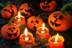 Предпосылка хеллоуина, handmade тыква Стоковое Изображение RF