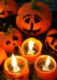 Предпосылка хеллоуина, handmade тыква Стоковые Фото