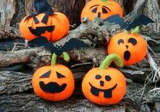 Предпосылка хеллоуина, handmade тыква Стоковые Изображения